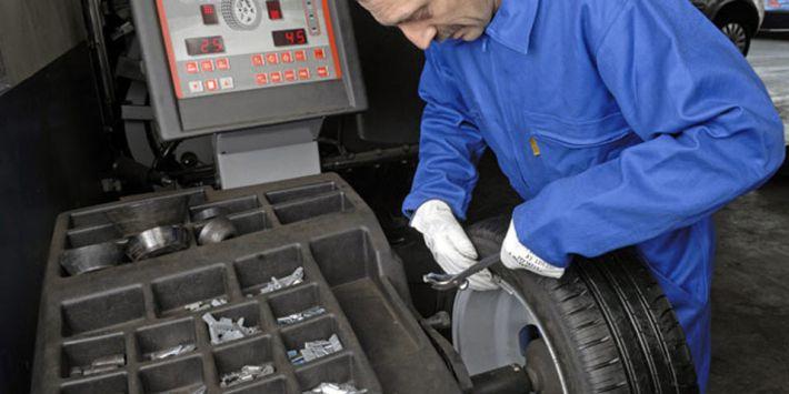 Controllo equilibratura degli pneumatici