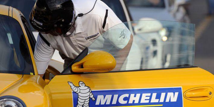 Test su pista degli pneumatici Michelin
